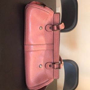 Soft pink leather purse